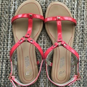 Like New Mootsies Tootsies Pink Sandals